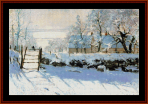 Magpie - Monet cross stitch pattern by Cross Stitch Collectibles | Crafting | Cross-Stitch | Other