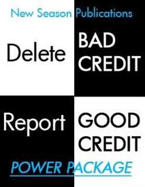 power package: report good credit /delete bad credit