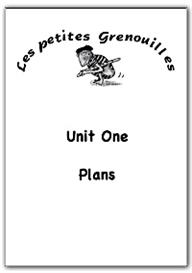 primary french plans unit 1