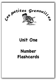 primary french resources - number flashcards