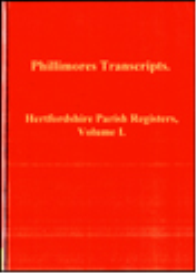 hertfordshire parish registers, volume i.