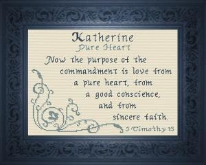 Name Blessings - Katherine | Crafting | Cross-Stitch | Religious