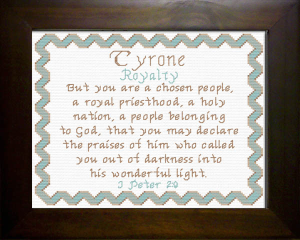 Name Blessings - Tyrone | Crafting | Cross-Stitch | Religious