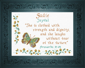 Name Blessings - Sadie | Crafting | Cross-Stitch | Religious