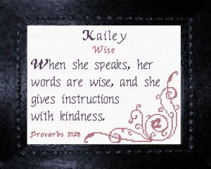 Name Blessings - Kailey | Crafting | Cross-Stitch | Religious