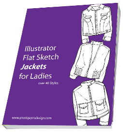 ladies jacket flats illustrator template