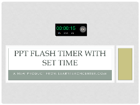ppt flash timer with set time