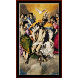 ascension of jesus - el greco cross stitch pattern by cross stitch collectibles