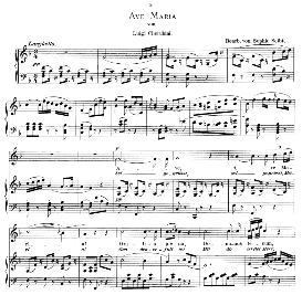 Ave Maria, High Voice in F Major, L.Cherubini. Caecilia, Ed. André (1894) Vol. I, 906-a | eBooks | Sheet Music