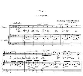 Nina, High Voice in F Minor, G.B. Pergolesi. Caecilia, Ed. André (1894) Vol. I, 906-a   eBooks   Sheet Music