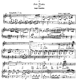 Ave Maria, Medium Voice in E Flat Major, L.Cherubini. Caecilia, Ed. André (1876) Vol. I, 906-b. PD | eBooks | Sheet Music