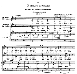 O cessate di piagarmi, Medium Voice in E Minor, A Scarlatti. Original Key. Caecilia, Ed. André (1876) Vol. I, 906-b. PD | eBooks | Sheet Music