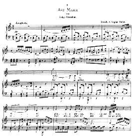 Ave Maria, Low Voice in C Major, L.Cherubini.  Caecilia, Ed. André (1876) Vol. I, 906-b. PD | eBooks | Sheet Music
