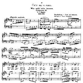 Ch'io mai vi possa, Low Voice in B Minor, G F Haendel. Caecilia, Ed. André (1876) Vol. I, 906-c. PD | eBooks | Sheet Music