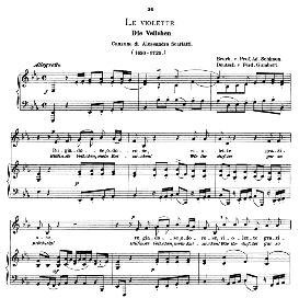 Le violette, Low Voice in E Flat Major, A. Scarlatti.  Caecilia, Ed. André (1876) Vol. I, 906-c. PD | eBooks | Sheet Music