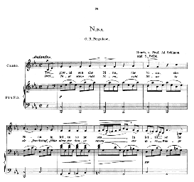 Nina, Low Voice in C Minor, G. B. Pergolesi. Caecilia, Ed. André (1876) Vol. I, 906-c. PD | eBooks | Sheet Music