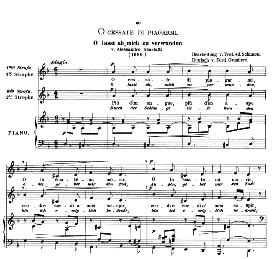 O cessate di piagarmi, Low Voice in D Minor, A. Scarlatti. Caecilia, Ed. André (1876) Vol. I, 906-c. PD | eBooks | Sheet Music
