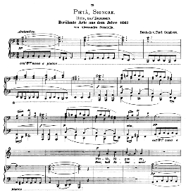 Pieta, Signore. Low Voice in A Minor, A. Stradella. Caecilia, Ed. André (1876) Vol. I, 906-c. PD | eBooks | Sheet Music