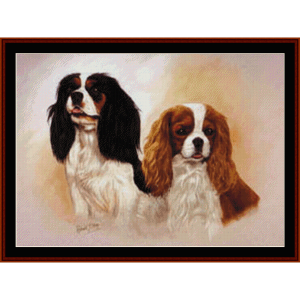 spaniels - robert j. may cross stitch pattern by cross stitch collectibles