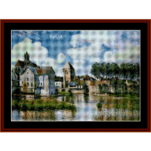 Moret Sur Loing - Sisley cross stitch pattern by Cross Stitch Collectibles | Crafting | Cross-Stitch | Other