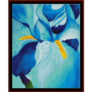 blue iris - floral cross stitch pattern by cross stitch collectibles