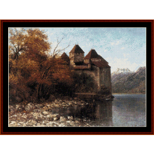 Chateau de Chillon - Courbet cross stitch pattern by Cross Stitch Collectibles | Crafting | Cross-Stitch | Wall Hangings