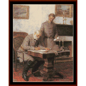surrender at appomattox - civil war cross stitch pattern by cross stitch collectibles
