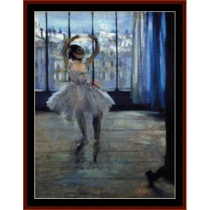 dancer in studio - degas cross stitch pattern by cross stitch collectibles