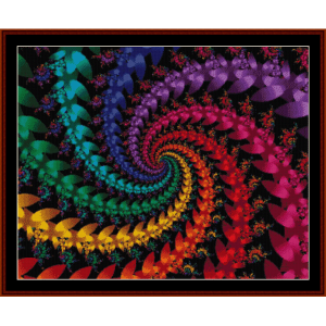 Fractal 57 cross stitch pattern by Cross Stitch Collectibles | Crafting | Cross-Stitch | Wall Hangings