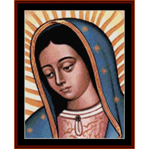 Our Lady of Guadalupe - Religious cross stitch pattern by Cross Stitch Collectibles | Crafting | Cross-Stitch | Wall Hangings