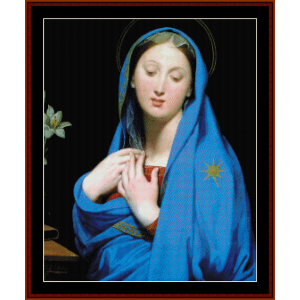 virgin of the adoption - ingres cross stitch pattern by cross stitch collectibles