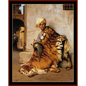 Pelt Merchant of Cairo - Gerome cross stitch pattern by Cross Stitch Collectibles | Crafting | Cross-Stitch | Wall Hangings