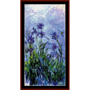 Lilac Irises - Monet cross stitch pattern by Cross Stitch Collectibles | Crafting | Cross-Stitch | Wall Hangings