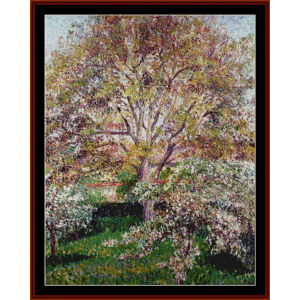 Walnuts and Apple Trees - Pissarro cross stitch pattern by Cross Stitch Collectibles | Crafting | Cross-Stitch | Wall Hangings