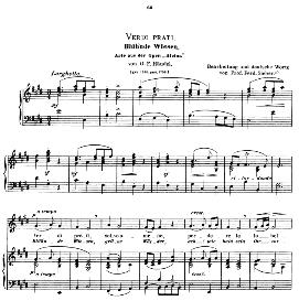 Verdi prati, Medium Voice in E Major, G.F.Haendel. Caecilia, Ed. André (1900) Vol. II, 906-e. PD | eBooks | Sheet Music