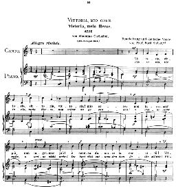 Vittoria, mio core. Medium Voice in C Major, G Carissimi.  Caecilia, Ed. André (1900) Vol. II, 906-e PD | eBooks | Sheet Music