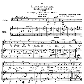L'augellin da' lacci, Low Voice in E Flat Major, C.W.Glück. Caecilia, Ed. André (1900) Vol. II, 906-f. PD | eBooks | Sheet Music