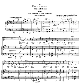 Per la gloria d'adorarvi, Low Voice in D Major, G.B.Bononcini.  Caecilia, Ed. André (1900) Vol. II, 906-f. PD | eBooks | Sheet Music
