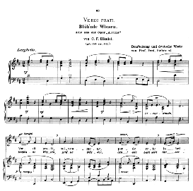 Verdi prati, Low Voice in D Major, G.F.Haendel.  Caecilia, Ed. André (1900) Vol. II, 906-f. PD | eBooks | Sheet Music