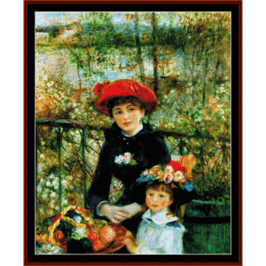 On the Terrace - Renoir cross stitch pattern by Cross Stitch Collectibles | Crafting | Cross-Stitch | Wall Hangings