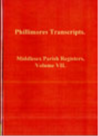 middlesex parish registers, volume vii