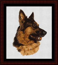 German Shepard - Robert J. May cross stitch pattern by Cross Stitch Collectibles | Crafting | Cross-Stitch | Wall Hangings