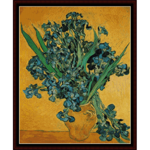 Irises, Amsterdam - Van Gogh cross stitch pattern by Cross Stitch Collectibles | Crafting | Cross-Stitch | Wall Hangings