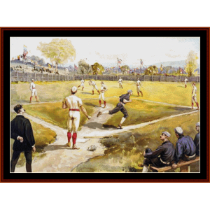Baseball - American History cross stitch pattern by Cross Stitch Collectibles | Crafting | Cross-Stitch | Wall Hangings