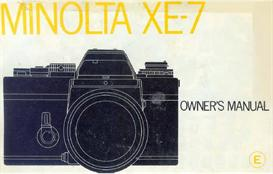 Minolta XE-7 Instruction Manual | Other Files | Photography and Images