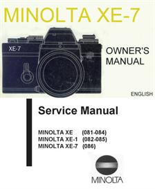 Minolta XE-7 Instruction and Repair Manuals | Other Files | Photography and Images