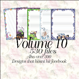 printable stationary designs vol 10 made by sophia delve