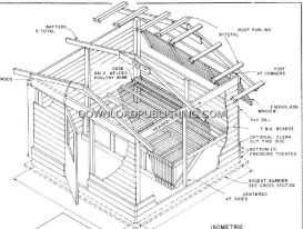 chicken coop plans - layer barn 10x10 50 hens gableroof blueprints download .pdf