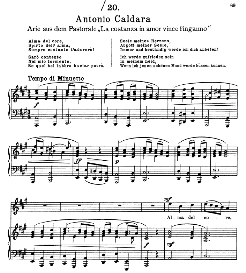 Alma del Core in A Major (High Voice). Alte Meister des Bel Canto, Ed. Peters (PD) | eBooks | Sheet Music