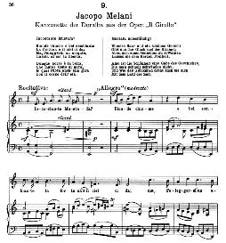 Bionde chiome e bel sembiante. J.Melani. Alte Meister des Bel Canto, Ed. Peters (PD) | eBooks | Sheet Music